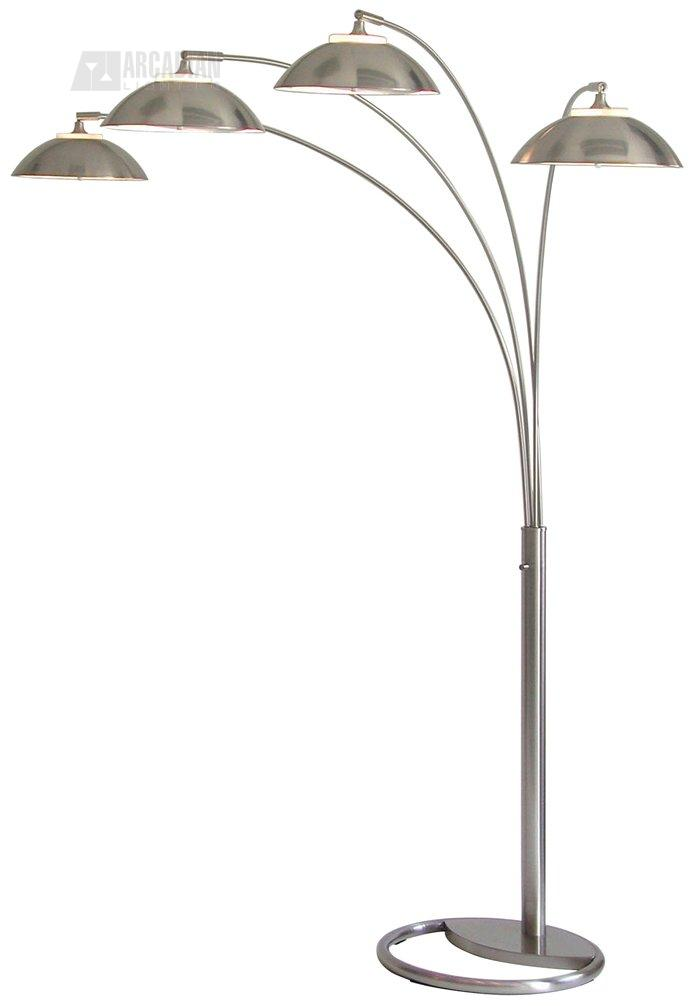 juniper contemporary 4 light arc floor lamp xvn xr4544 see details. Black Bedroom Furniture Sets. Home Design Ideas
