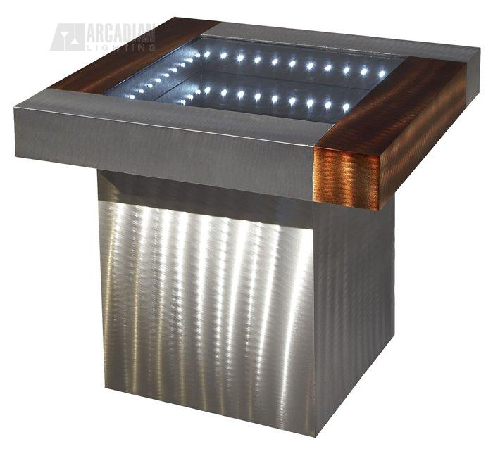 Nova lighting ifet2222b square infinity contemporary end for Cheap modern end tables