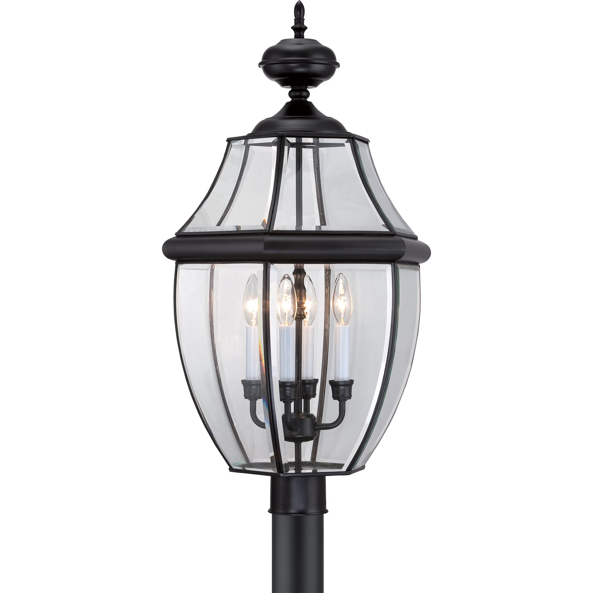 Quoizel Outdoor Lighting Newbury: Quoizel NY9045K Newbury Traditional Outdoor Post Lantern