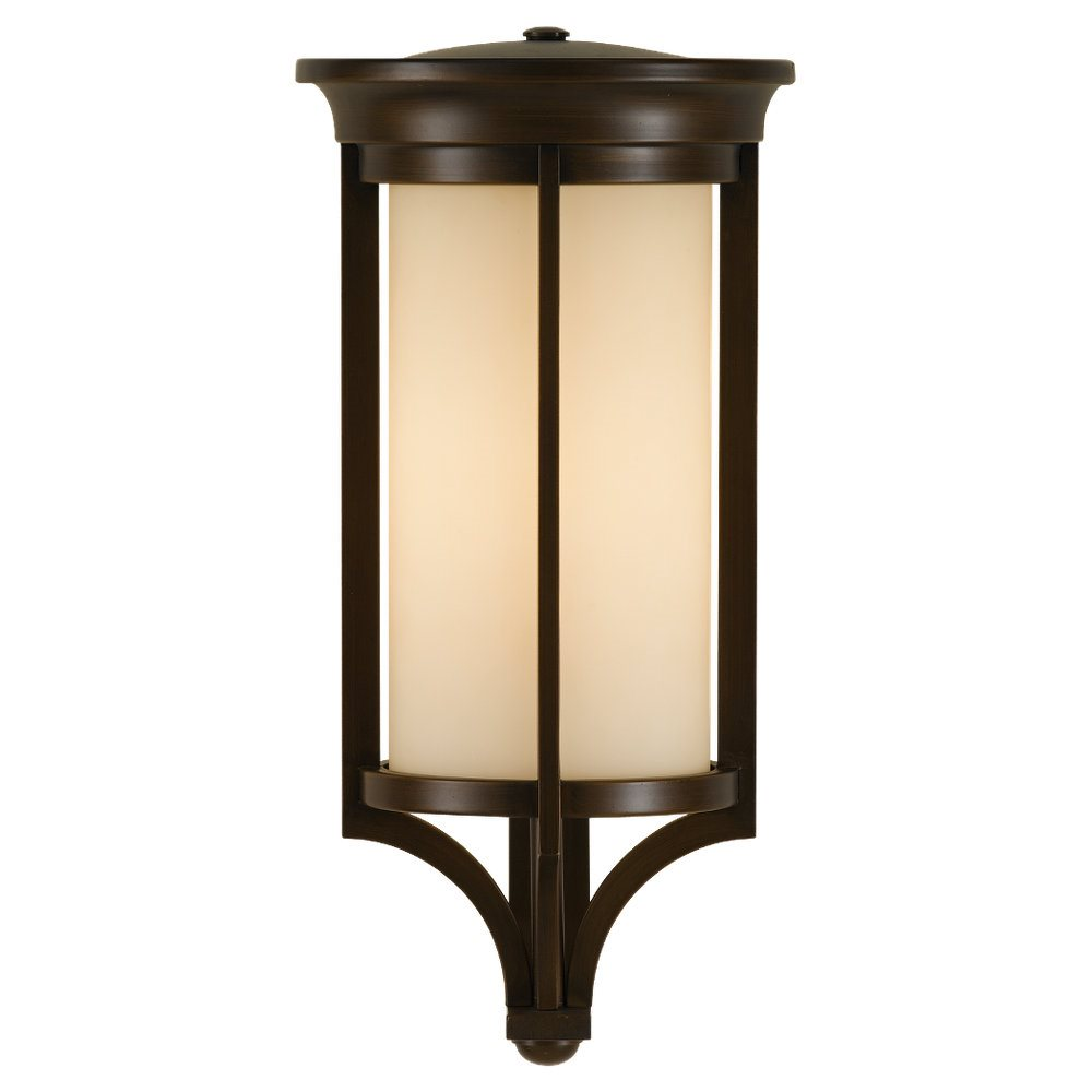 Baton Rouge Outdoor Pedestal Lantern By Feiss: Murray Feiss OL7504HTBZ-LA Merrill 13W LED Transitional