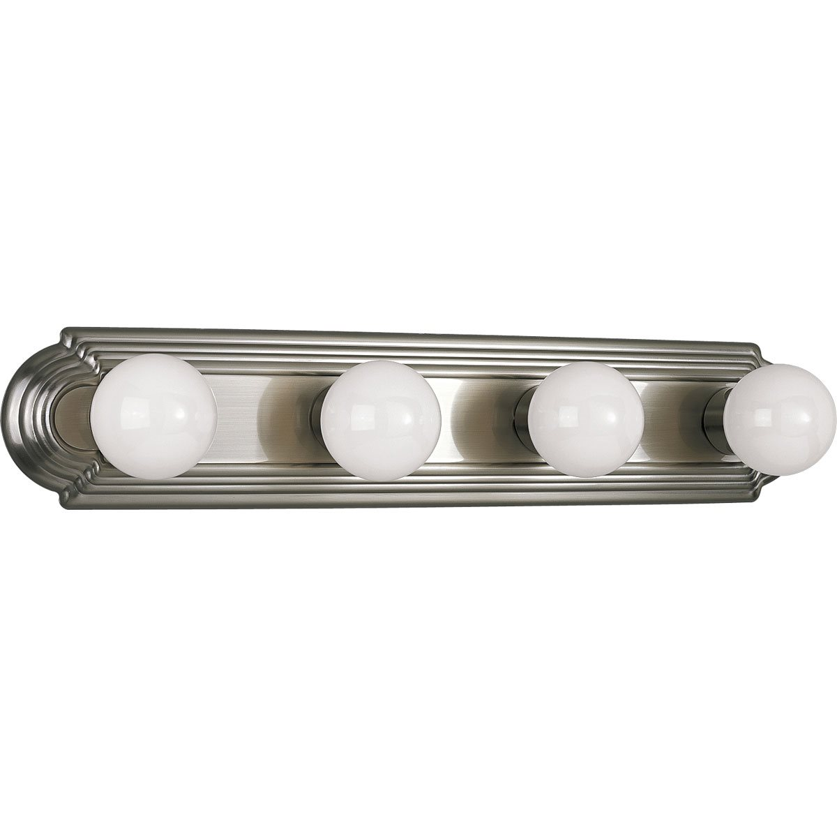 Vanity Light Bar With Switch : Progress Lighting P3025 Open Face Transitional Bathroom / Vanity Light Bar PG-P3025