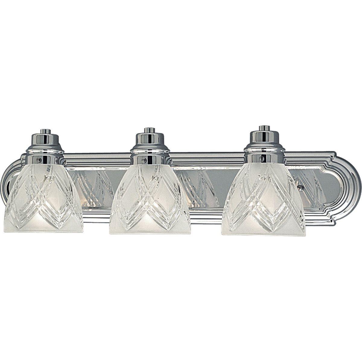 Progress Lighting P3044 15 Crystal Cut Transitional Bathroom Vanity Light Pg P3044 15