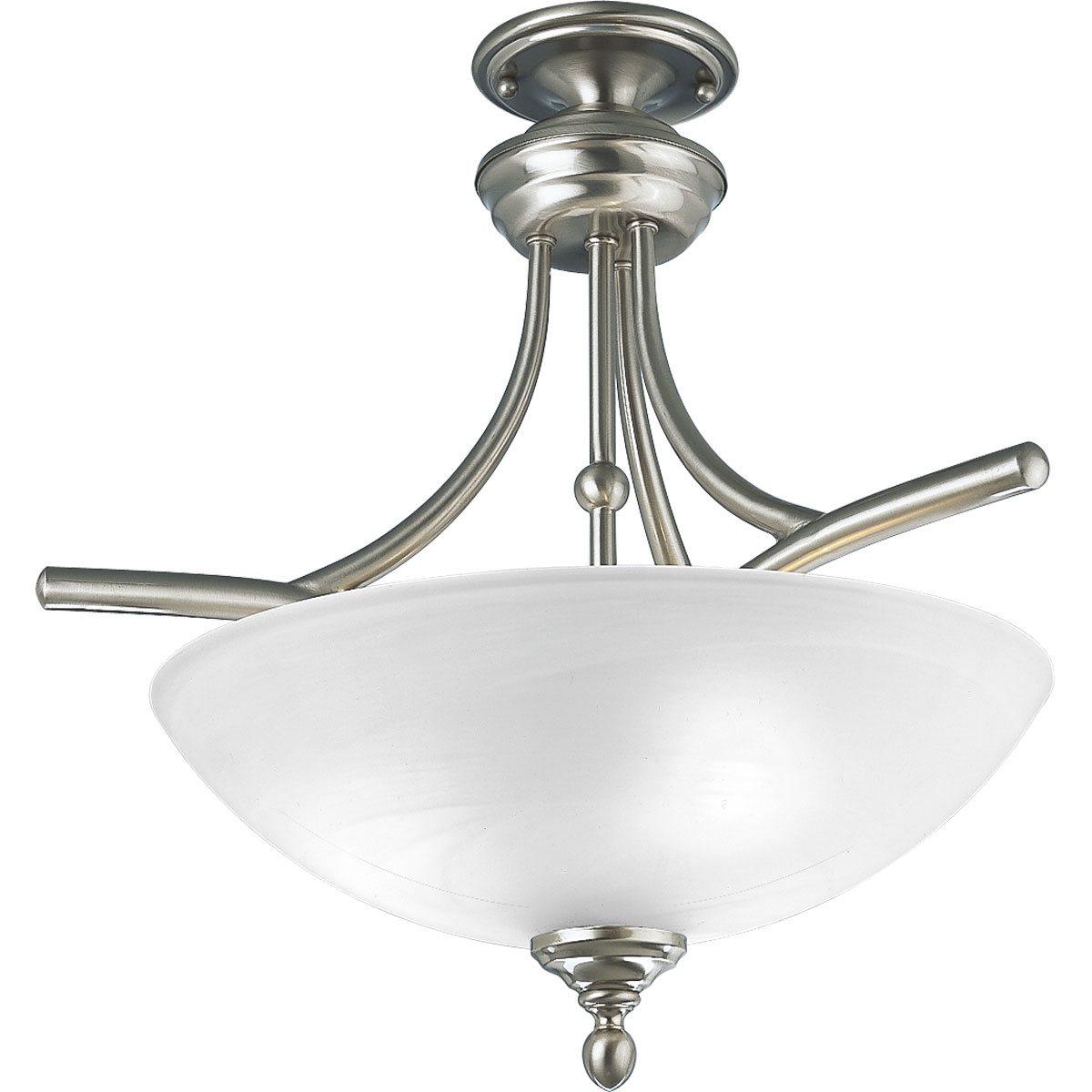 Progress lighting p3780 09 glendale transitional semi Semi flush mount ceiling lights