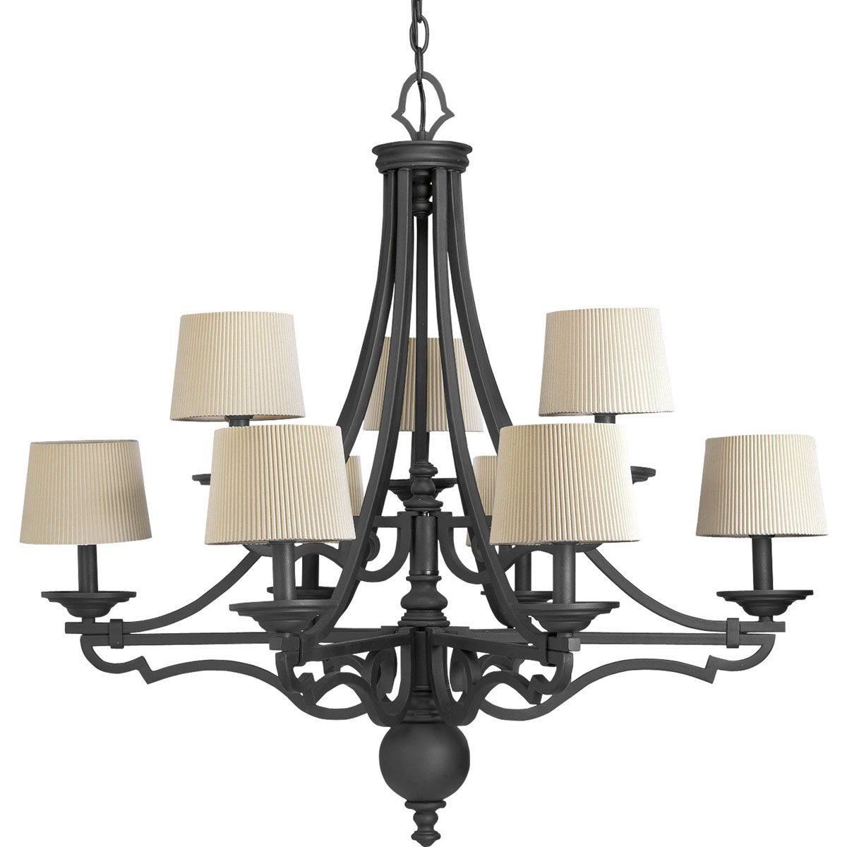 thomasville lighting p4568 meeting traditional 9 light chandelier pg p4568