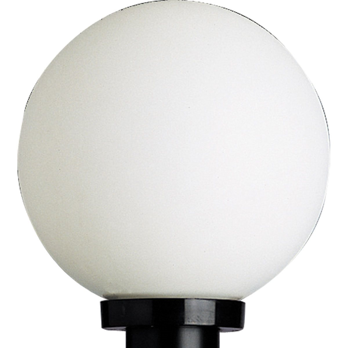 progress lighting white acrylic globe outdoor post lantern. Black Bedroom Furniture Sets. Home Design Ideas