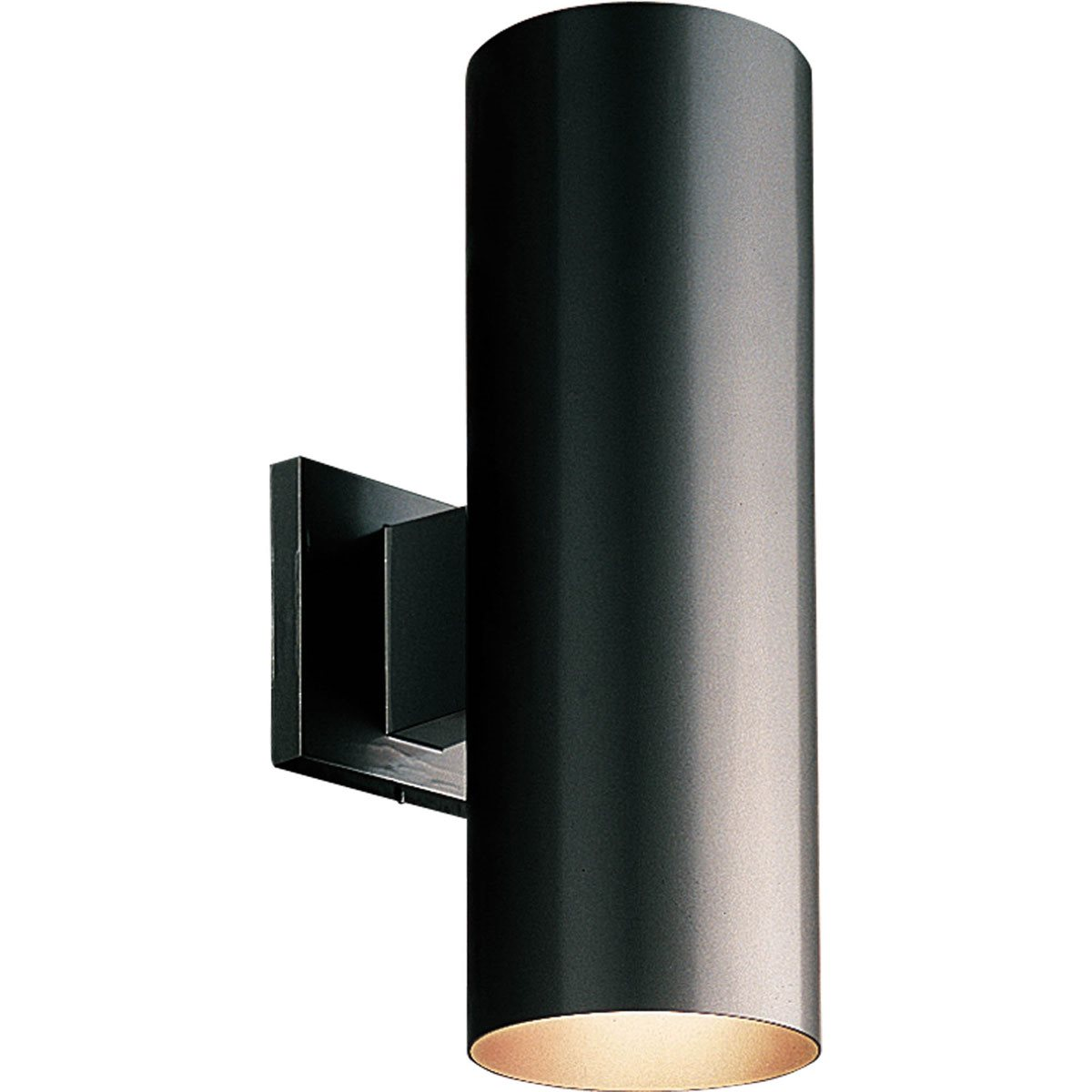 Progress lighting p5675 5 aluminum cylinder outdoor wall sconce pg p5675 for Exterior light sconce