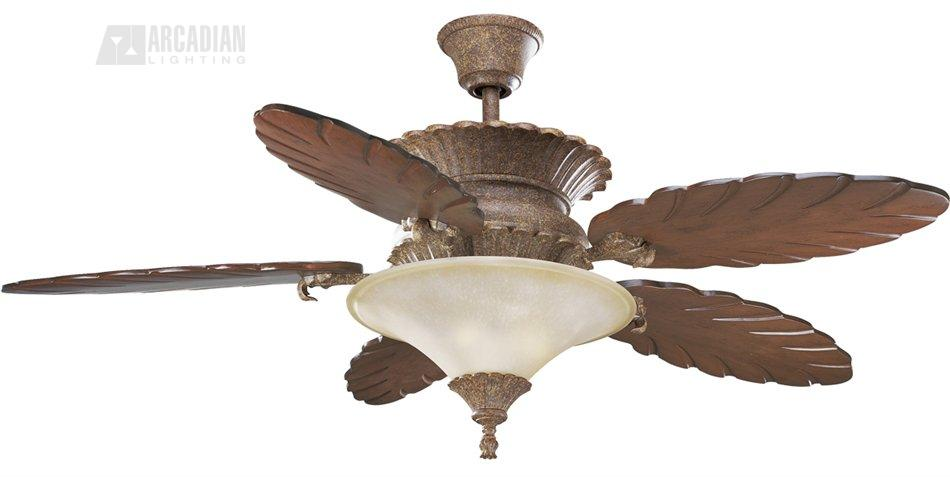 Thomasville lighting p2508 26c 58 west palm traditional ceiling fan zoom aloadofball Gallery