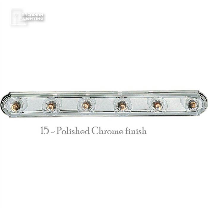 Vanity Light Bar With Switch : Progress Lighting P3026 Open Face Transitional Bathroom / Vanity Light Bar PG-P3026