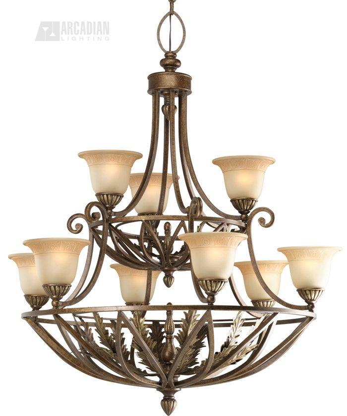 Thomasville lighting p4021 120 bellano traditional 9 light for Thomasville lights