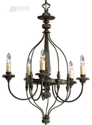 Progress Lighting Fiorentino Traditional Chandelier - PG-P4408-77 See details.  sc 1 st  Arcadian Home & Progress Lighting P4408-77 Fiorentino Traditional Chandelier PG-P4408-77