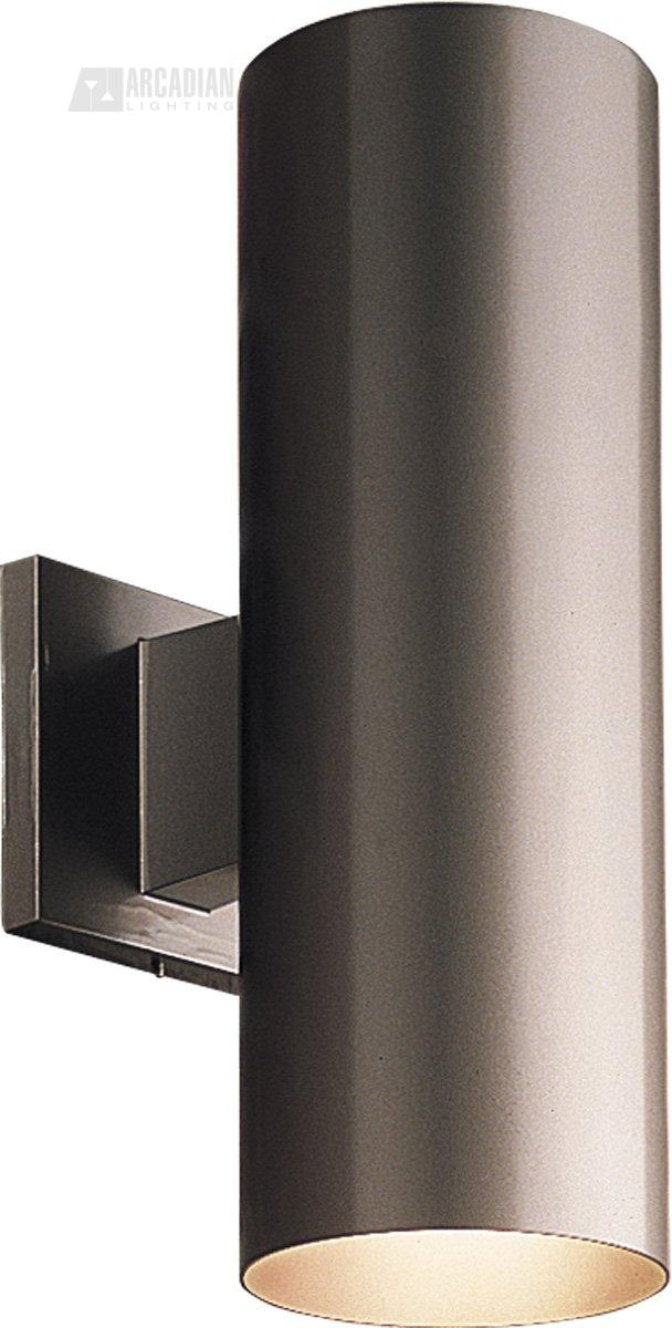 Progress lighting p5675 5 aluminum cylinder outdoor wall sconce pg p5675 - Cylindrical wall sconce ...