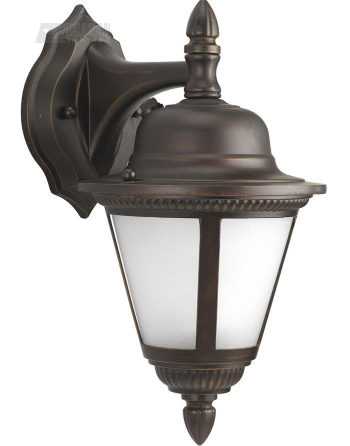 outdoor wall sconce with photocell pg p5862 20str see details. Black Bedroom Furniture Sets. Home Design Ideas