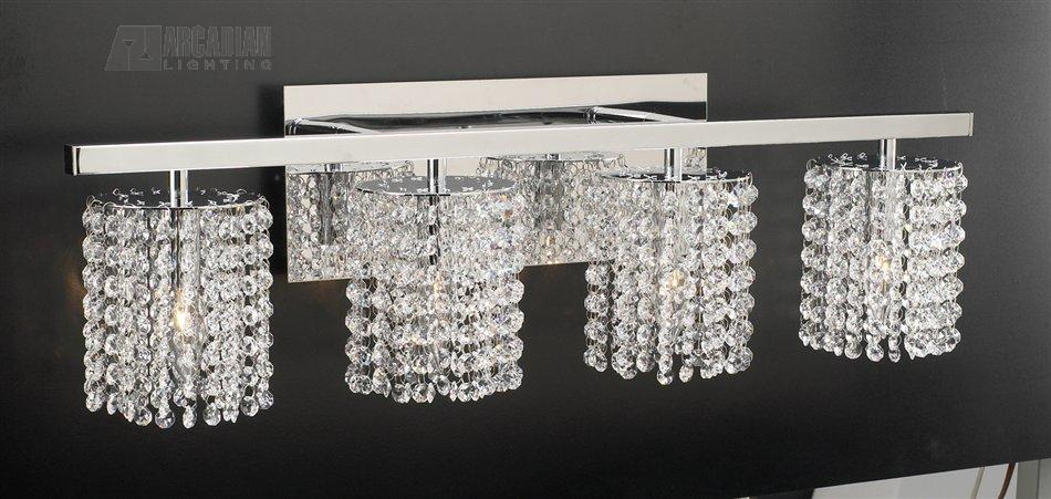 Crystal Bathroom Light Fixtures Pretty