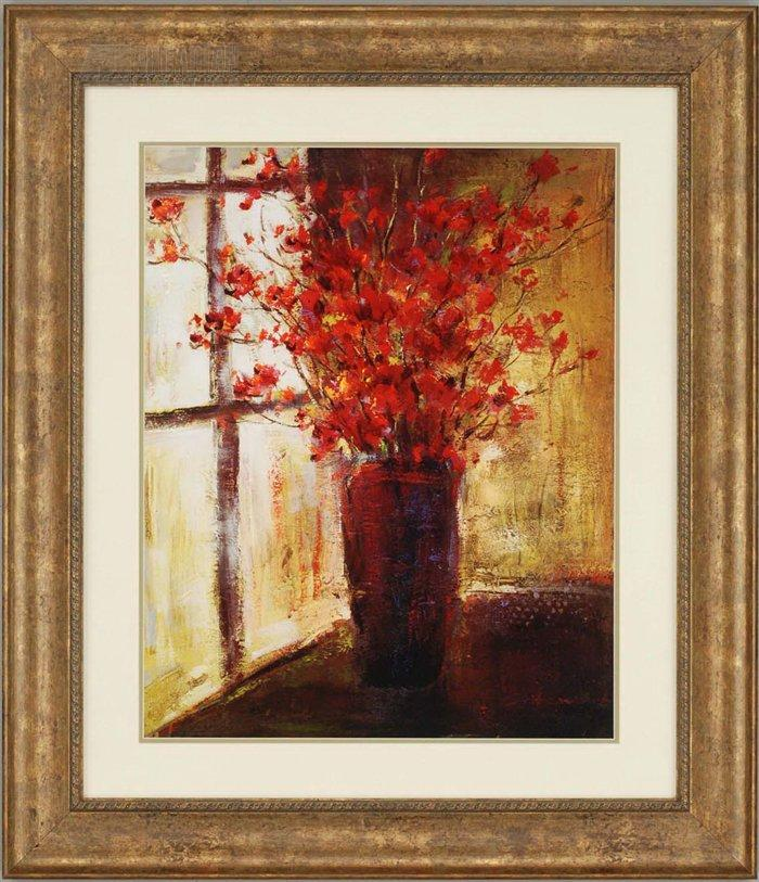 Paragon Picture Gallery 1551 Red Flowers Still Life Framed