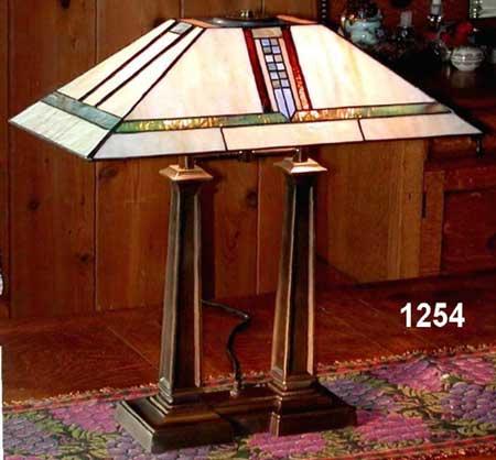 Paul Sahlin Tiffany 1254 Mission Style Tiffany Desk Lamp