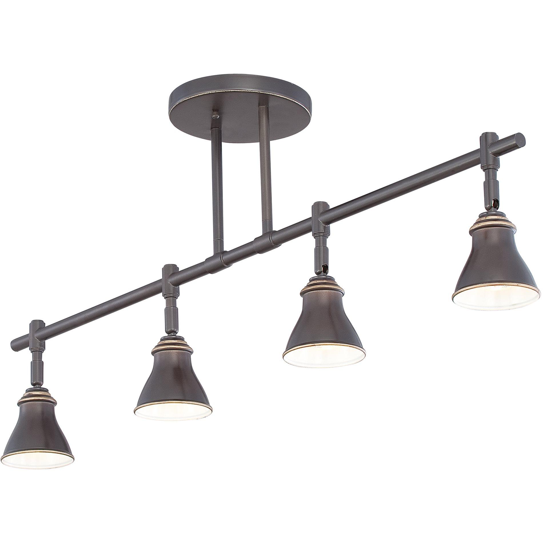 Quoizel qtr10054pn contemporary ceiling track light qz for Ceiling track light fixtures