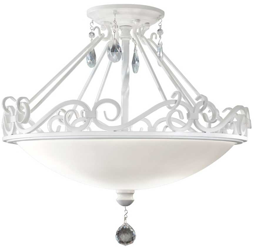 feiss chateau blanc 13w led traditional semi flush mount ceiling light