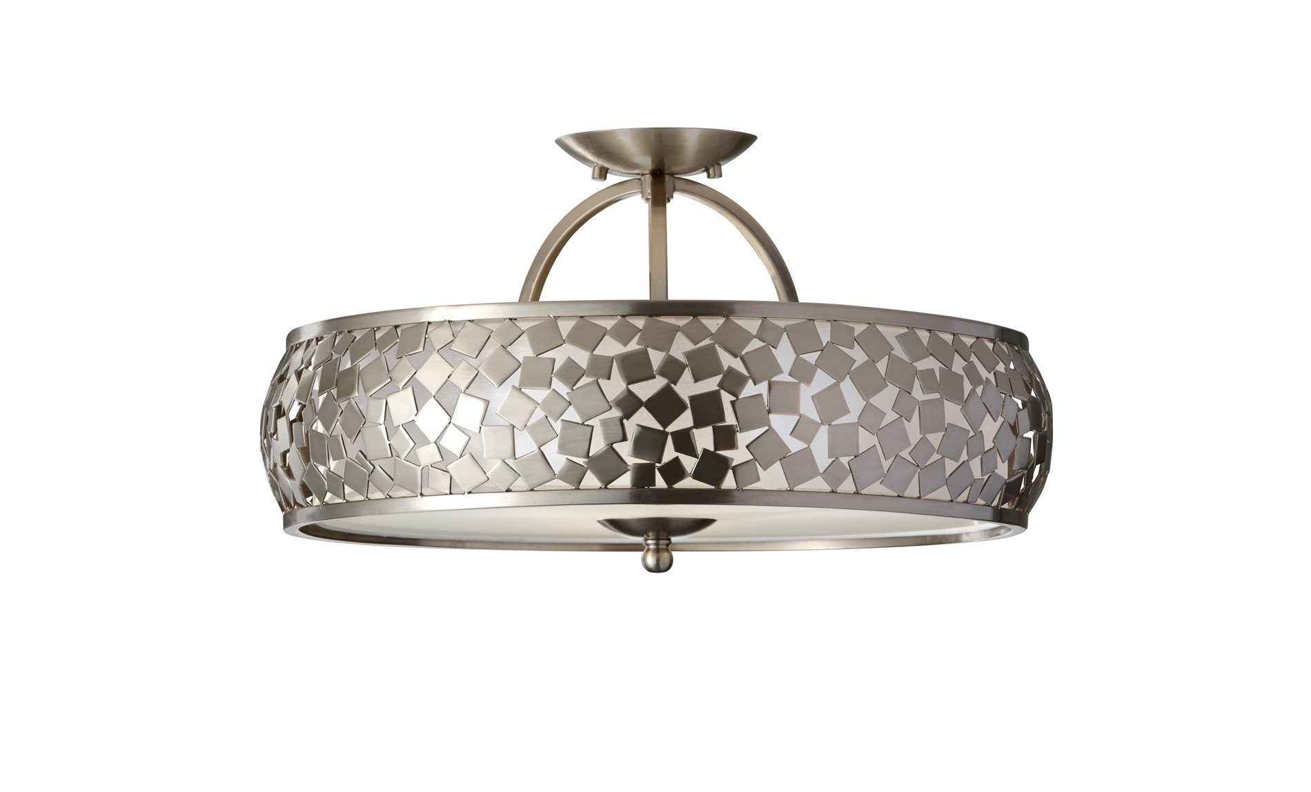 Murray feiss sf305bs zara modern contemporary semi flush for Semi flush mount lighting modern