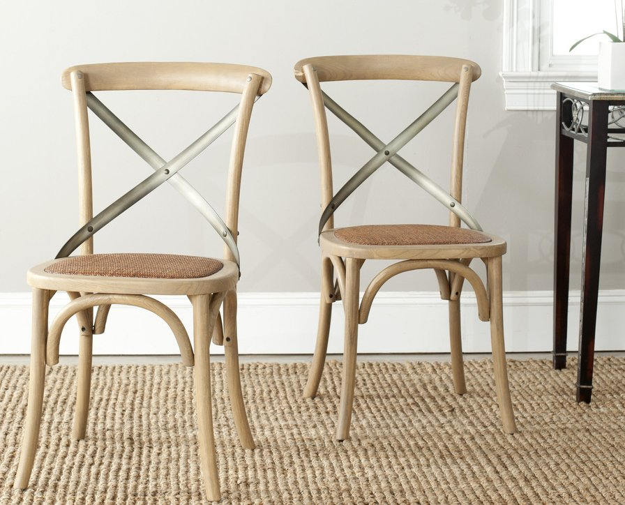 Safavieh Amh9501c Set2 Eleanor X Back Side Chair Sfv