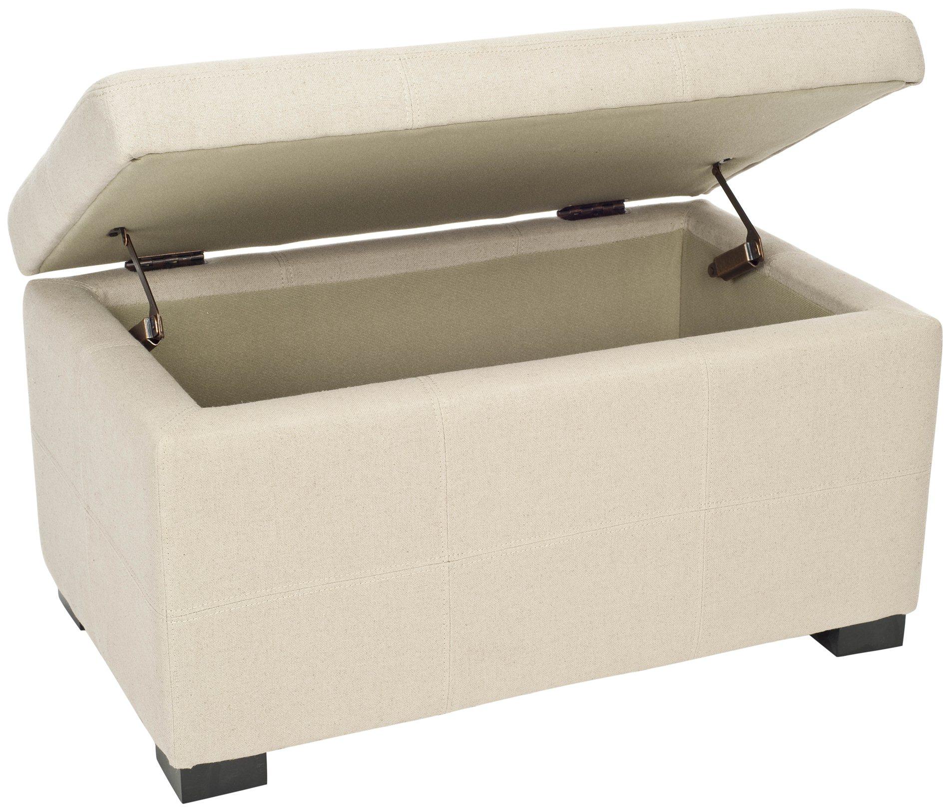 Safavieh Hud8230l Maiden Tufted Storage Bench Sm Sfv Hud8230l