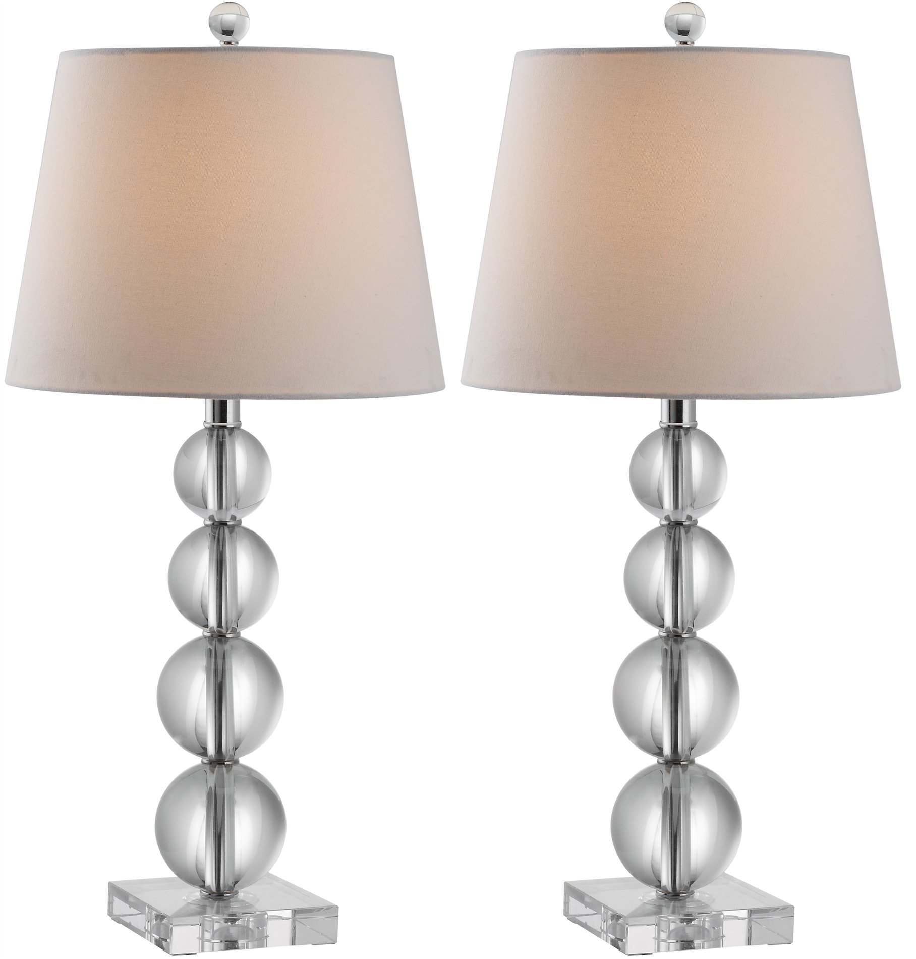 safavieh millie clear crystal ball table lamp sfv lit4102a set2 see. Black Bedroom Furniture Sets. Home Design Ideas