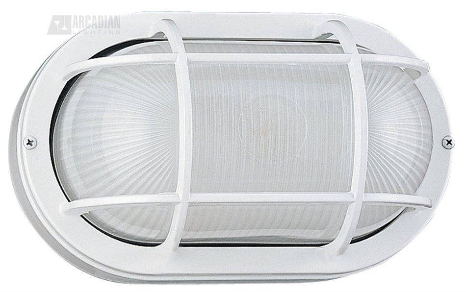 Sea Gull Lighting 8927 15 White Contemporary Outdoor Wall Sconce SG 8927 15