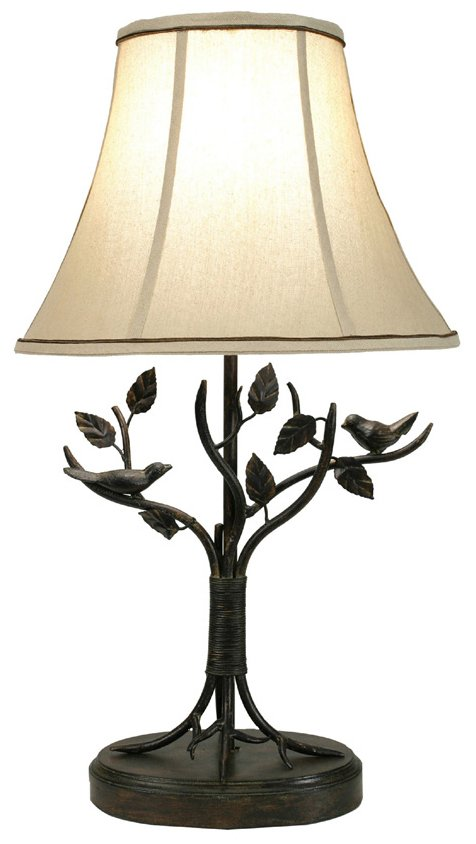 Stylecraft Bp8168ds Bird And Leaf Transitional Table Lamp