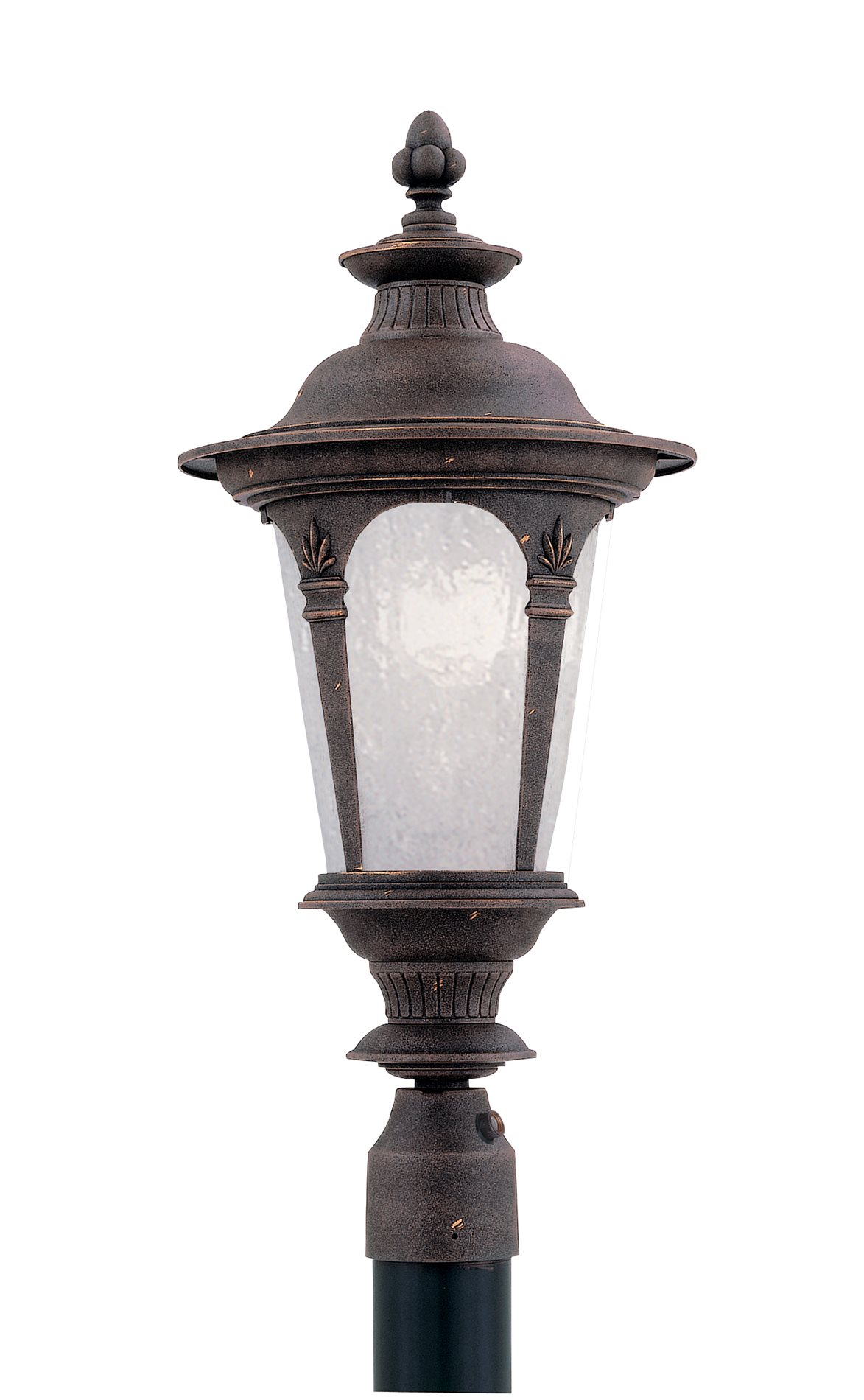 Designers Fountain T2836cfl Ag Quintessence Energy Efficient Traditional Outdoor Post Lantern Df