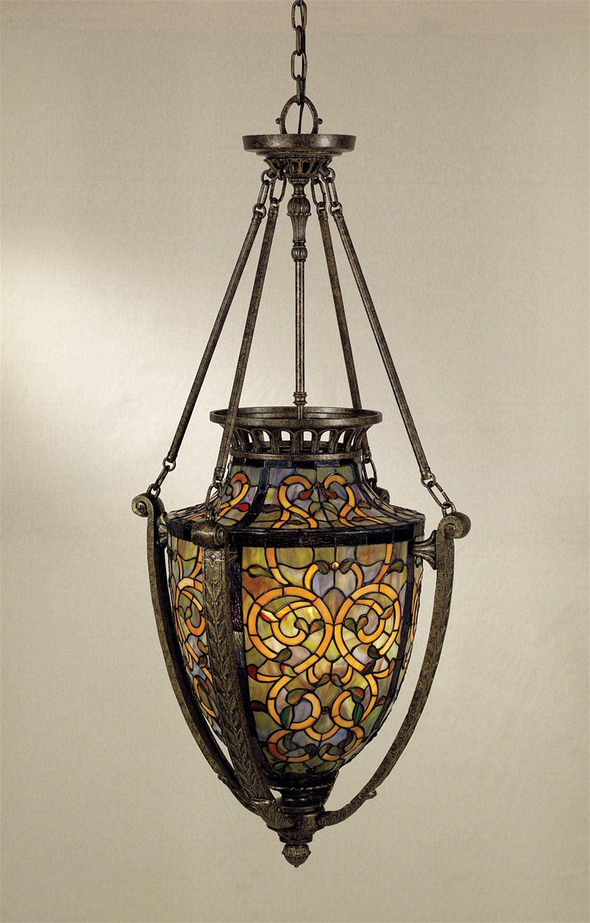 Quoizel Tf1721ml Anfora Traditional Tiffany Pendant Light