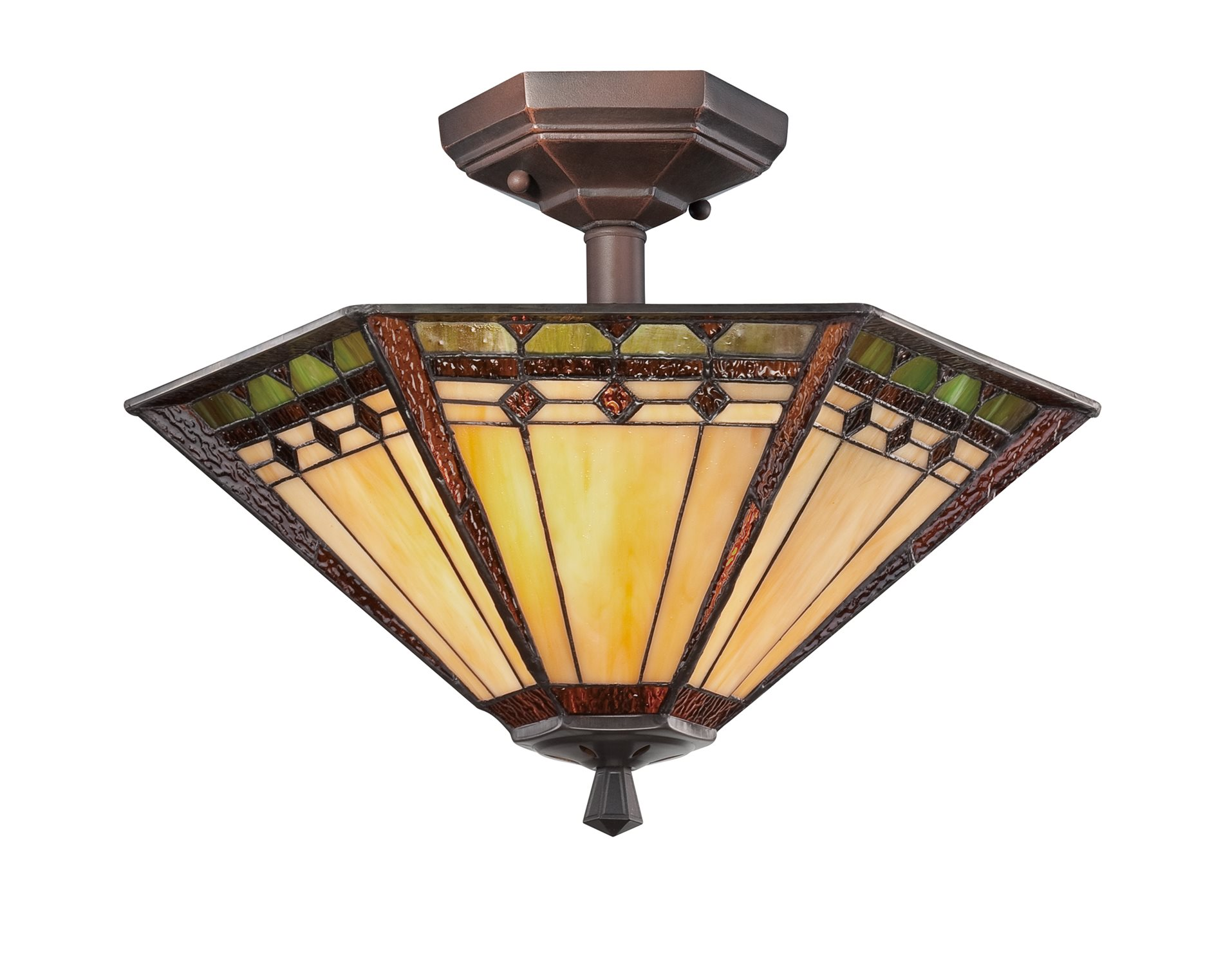 Quoizel TFAN1714RS Arden Tiffany Semi Flush Mount Ceiling