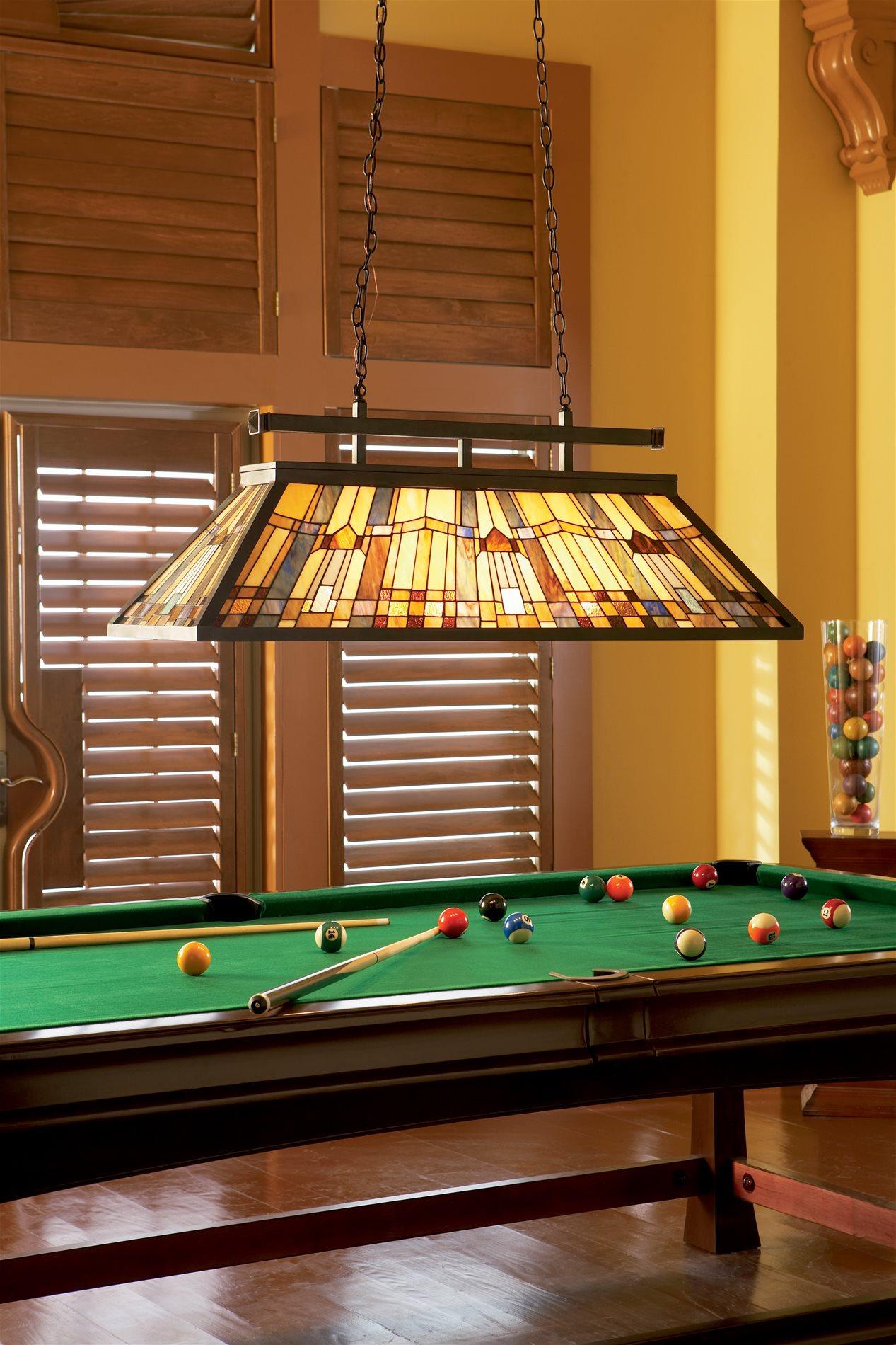 Pool Table Lights : Quoizel tfik va inglenook traditional tiffany kitchen