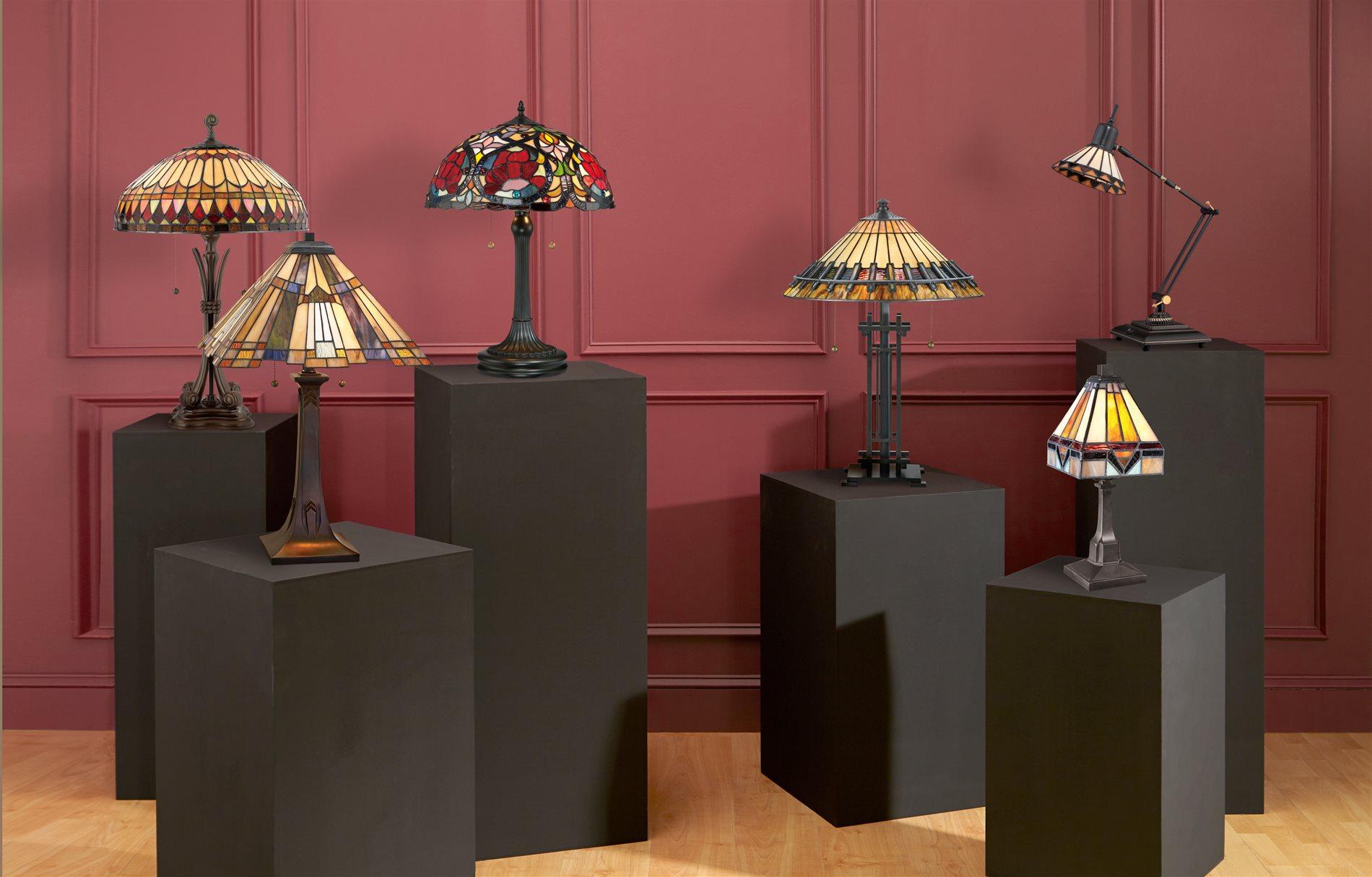 Quoizel Inglenook Traditional Tiffany Table Lamp   QZ TFT16191A1VA See  Details.