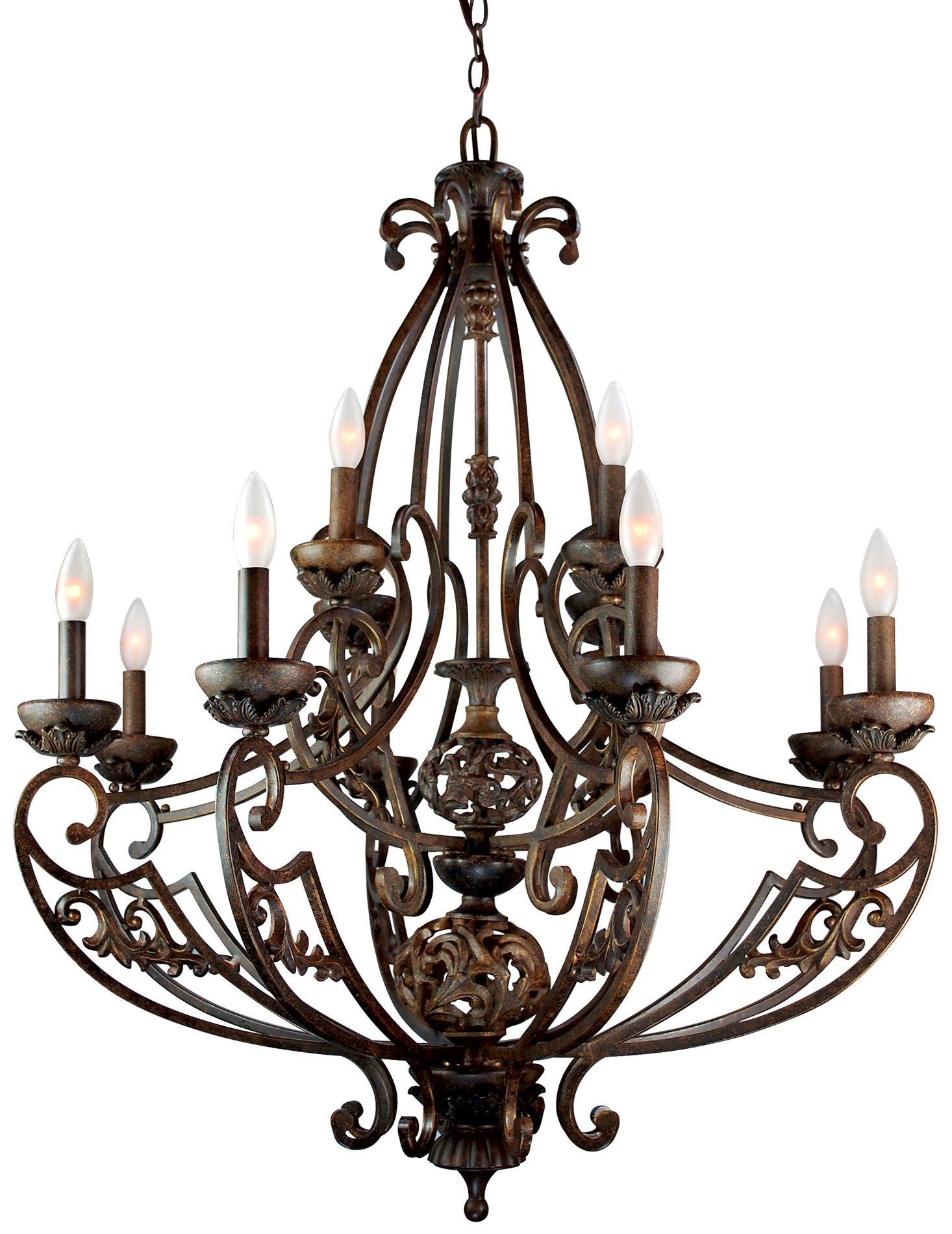 Trans Globe Lighting 2383 BRG Traditional Classic Chandelier TG