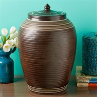 Tozai Home Studio Pottery Turned Decorative Covered Jar Toz Tip373
