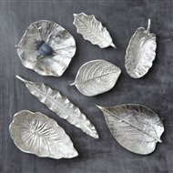 Tozai Home Silver Foliage Transitional Dish Small 2 Sets Pack Of 7 Per Set Toz Ebe100 S7