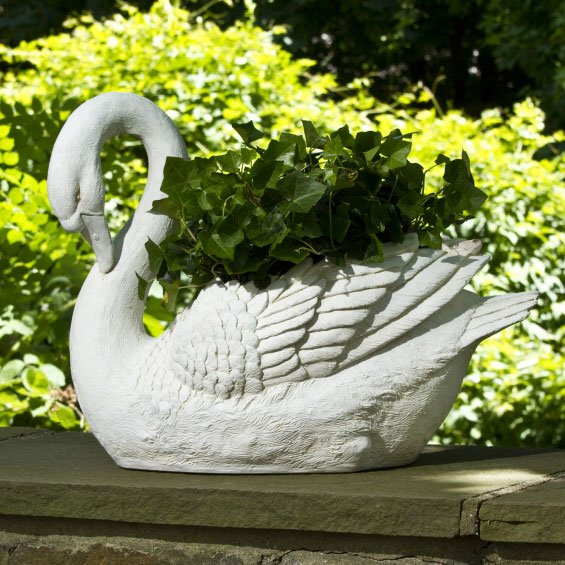 Asher White Swan Transitional Planter Xowt 3878