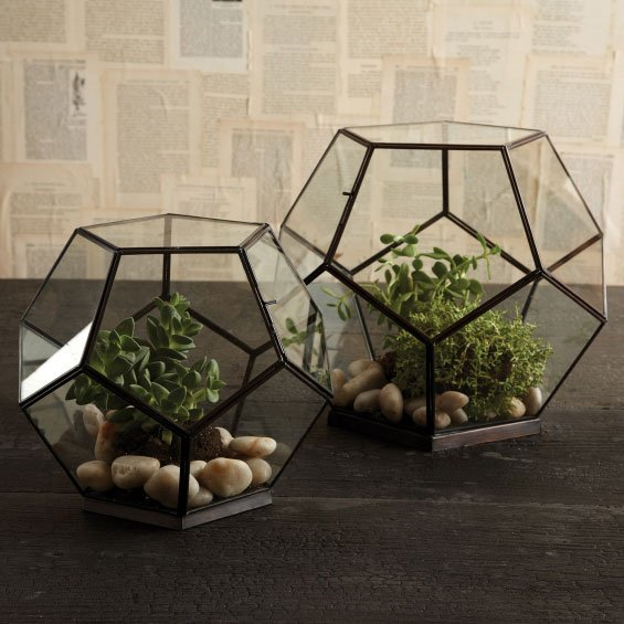 Twos Company 8969 Octagonal Glass Box 2 Sets Pack Of 2
