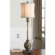 uttermost shahla bronze traditional buffet lamp um292911