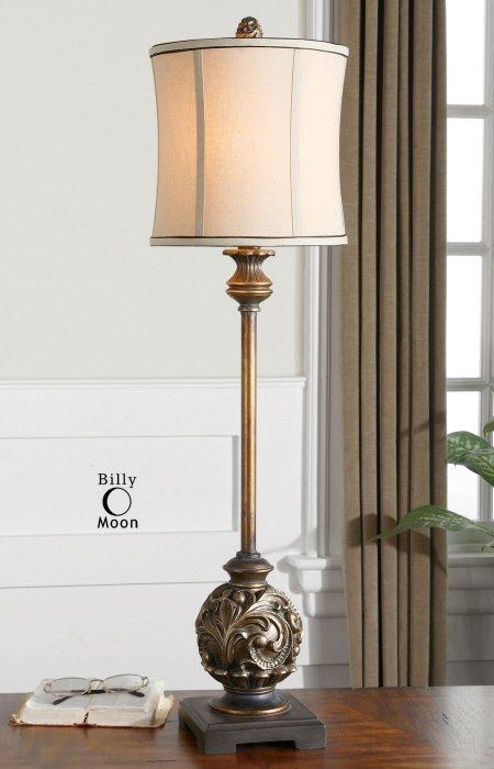 Uttermost 29291 1 shahla bronze traditional buffet lamp um