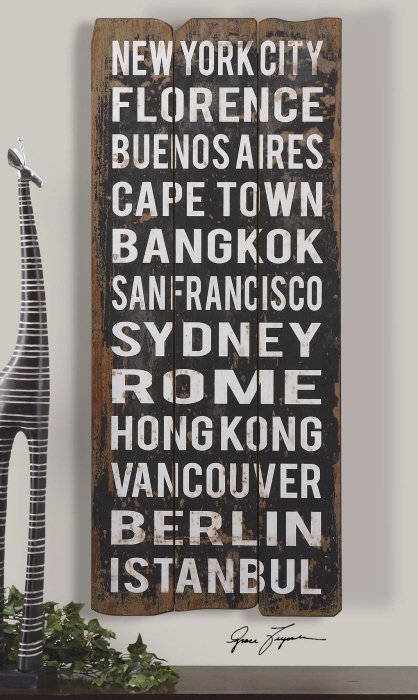Grace Feyock 32522 City Names I Wall Art Wall Decor Um 32522