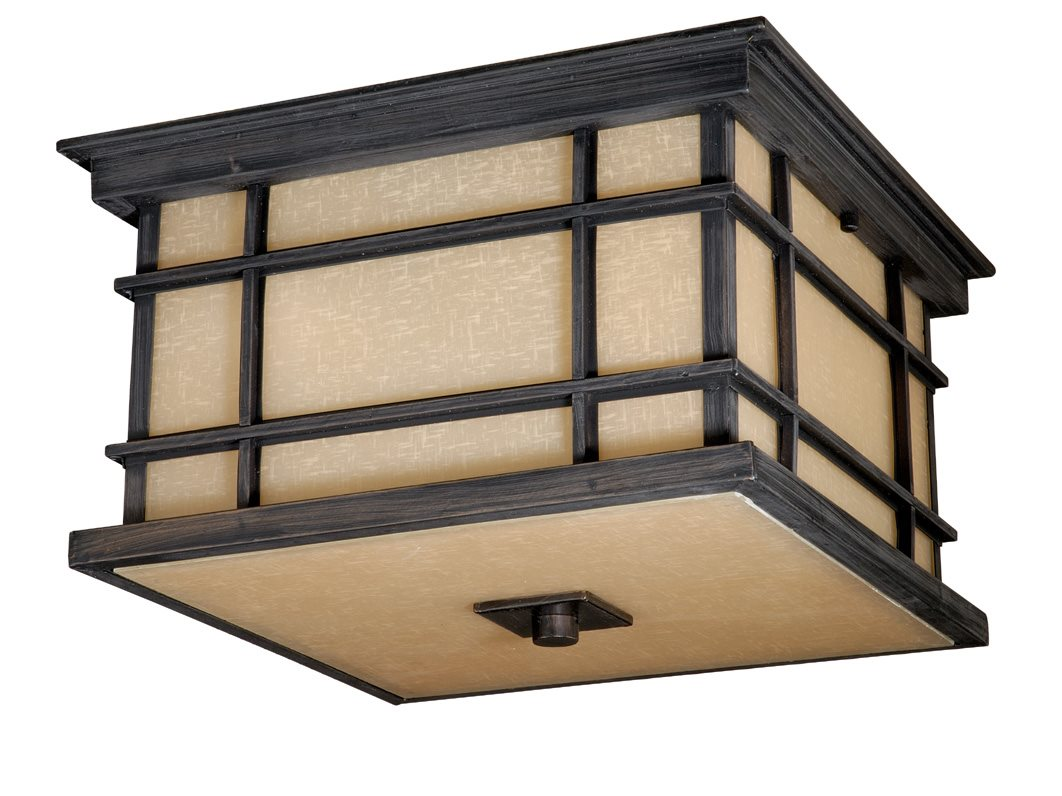 Vaxcel Lighting MH OFU120CZ Manor House Transitional Outdoor Flush Mount Ceil