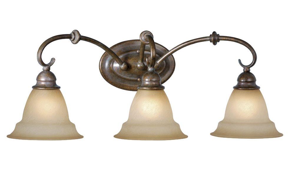 Vaxcel lighting om vld003rz omni traditional bathroom for Traditional bathroom lighting fixtures