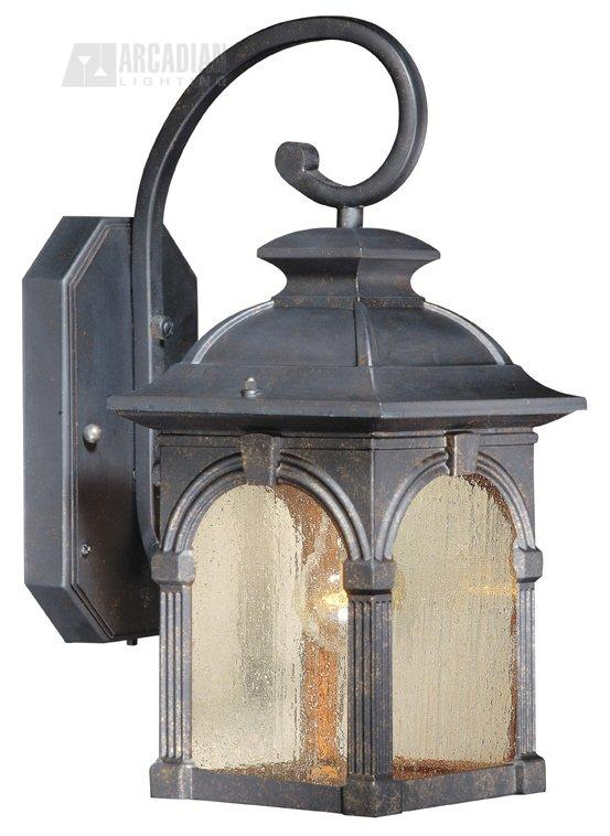Vaxcel Lighting SR53108BP Essex Timer with Photocell Traditional Outdoor Wall Sconce VX-SR53108BP