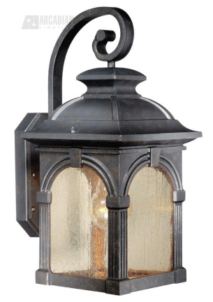 Wall Sconce With Photocell : Vaxcel Lighting SR53109BP Essex Timer with Photocell Traditional Outdoor Wall Sconce VX-SR53109BP