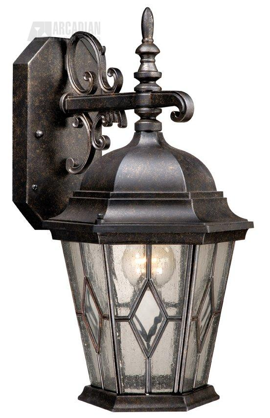 Wall Sconce With Photocell : Vaxcel Lighting SR53112GT Dijon Timer with Photocell Traditional Outdoor Wall Sconce VX-SR53112GT
