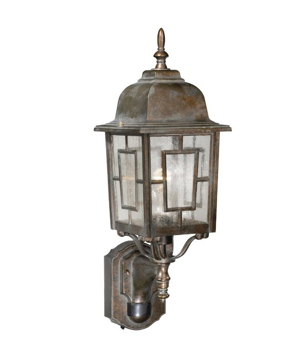 Vaxcel Lighting Sr53122rz Vista 7 Traditional Outdoor Smart Light Wall Sconce With Motion