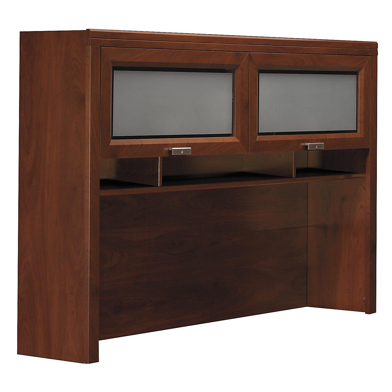 Bush Furniture WC21431 L-Desk Overhead Hutch Bush-wc21431