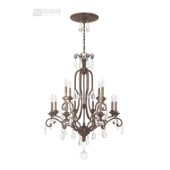 World Imports Alyssa Collection Distressed White 3-Light Chandelier