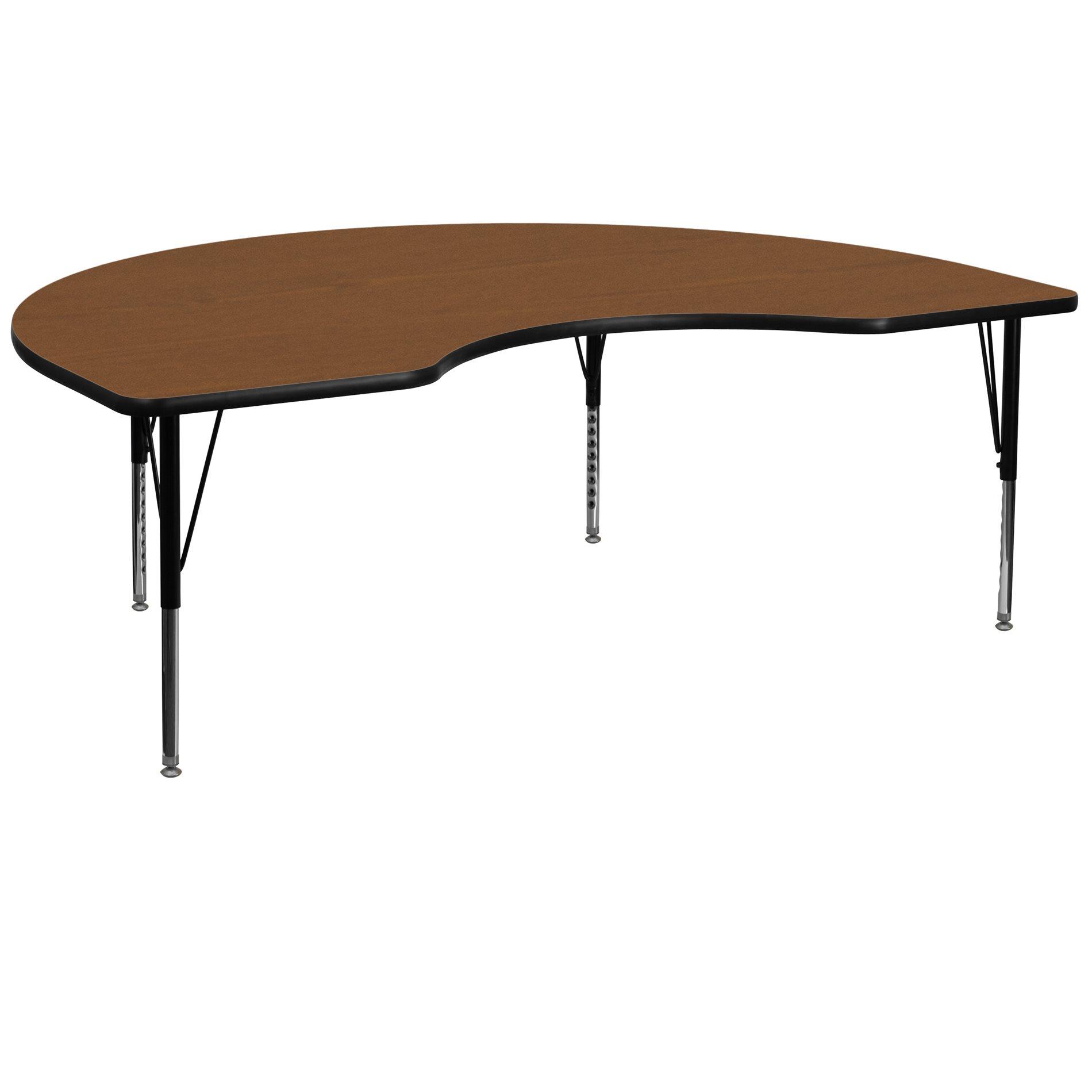 Flash Furniture Xu A4872 Kidny Oak H P Gg Accent Table Ff