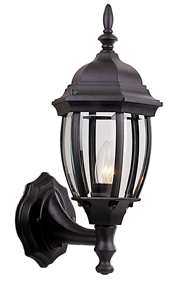 Craftmade Z268 Cast Aluminum Bent Glass Outdoor Wall Sconce with Photocell - Small CM-Z268